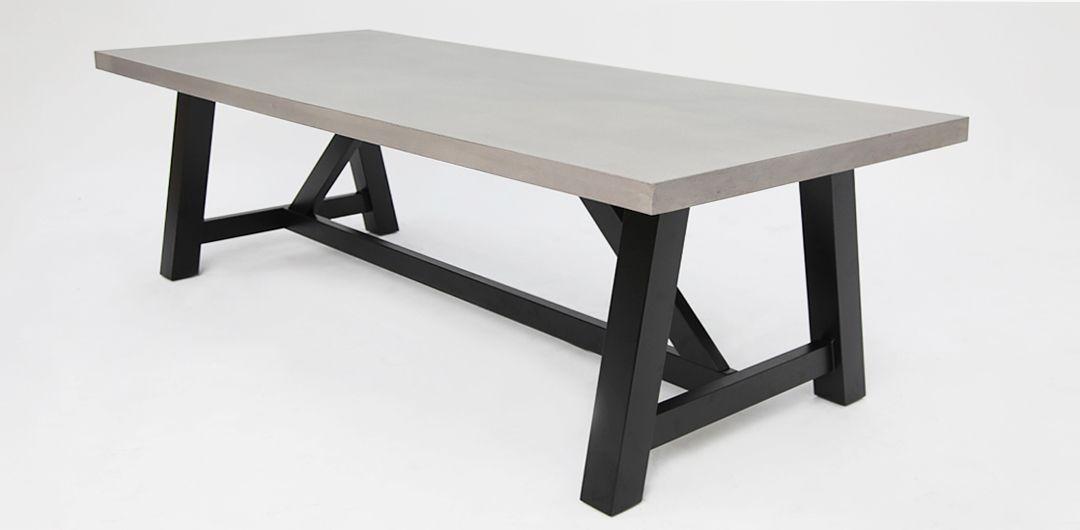 Milano 240cm concrete dining table