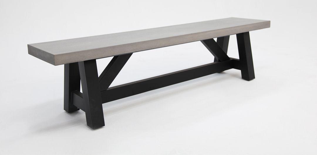 Milano 180cm concrete bench