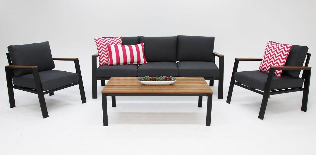 Pacifica Black 4pc sofa set