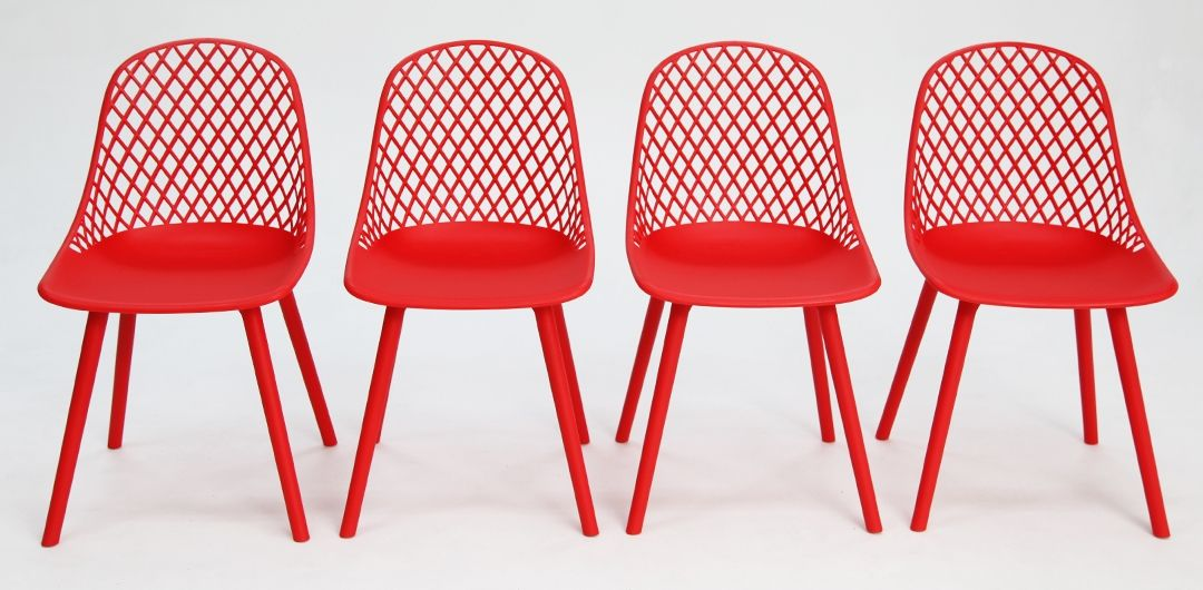 Persia dining chair red set of 4