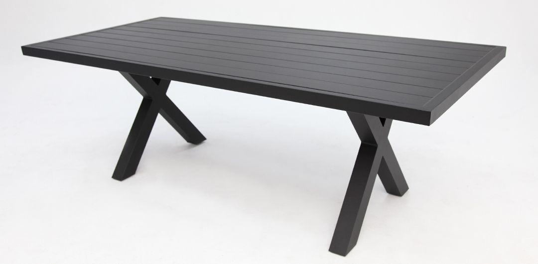 Ravenne 220cm aluminium dining table black