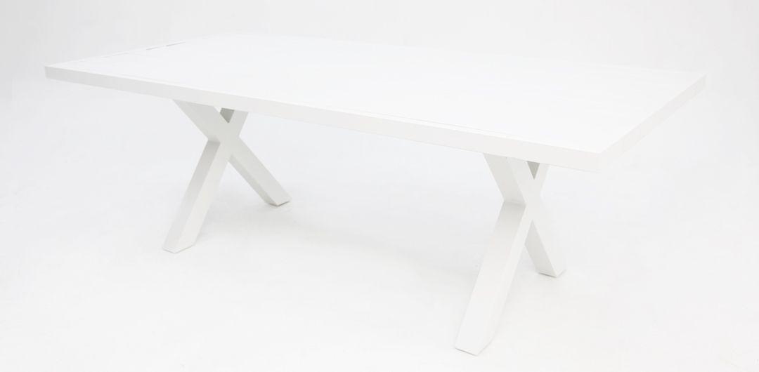Ravenne 220cm aluminium dining table white