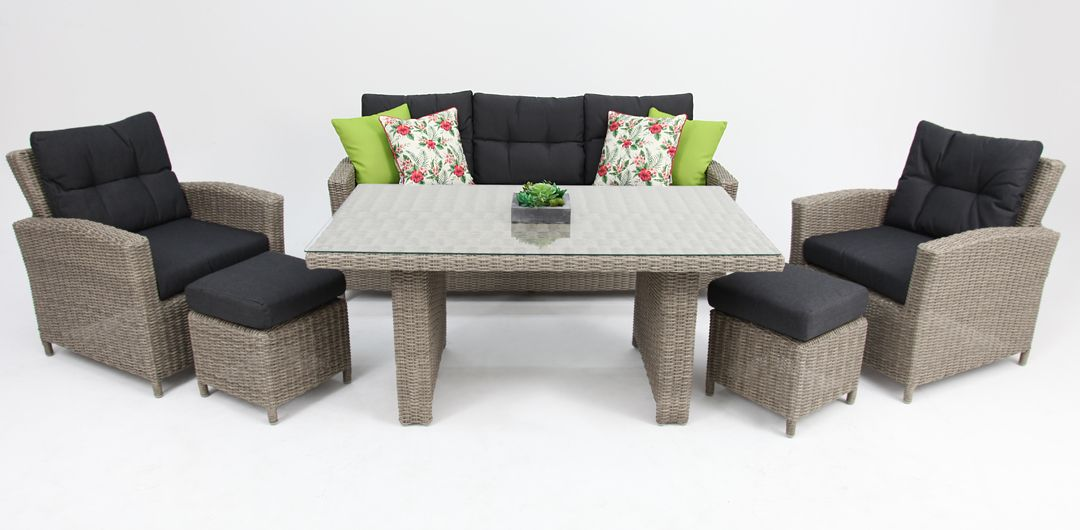 San Marino 6 piece lounge setting kobo grey/charcoal