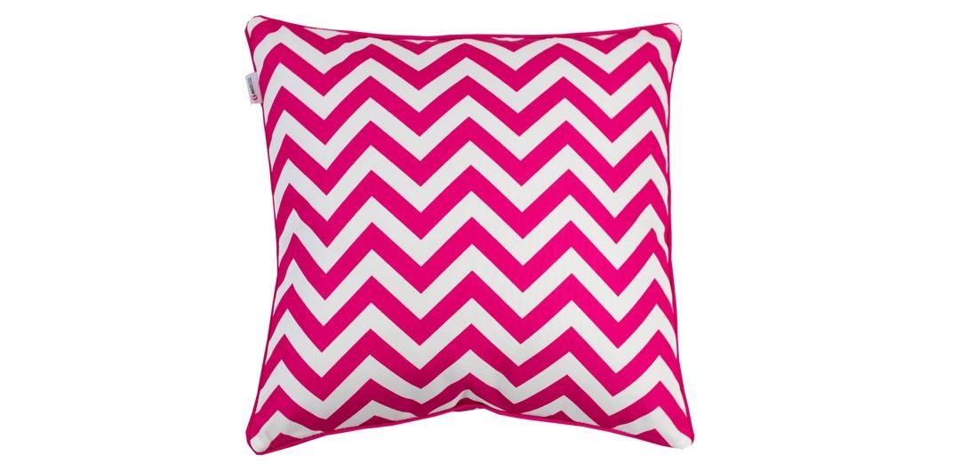 Indo Soul pink and white narrow aztec 45x45cm outdoor scatter cushion