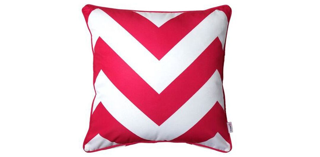 Indo Soul pink and white large aztec 45x45cm outdoor scatter cushion