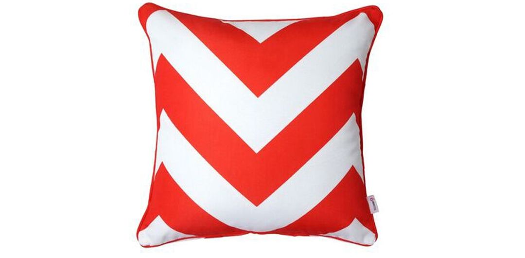Indo Soul red and white large aztec 45x45cm outdoor scatter cushion