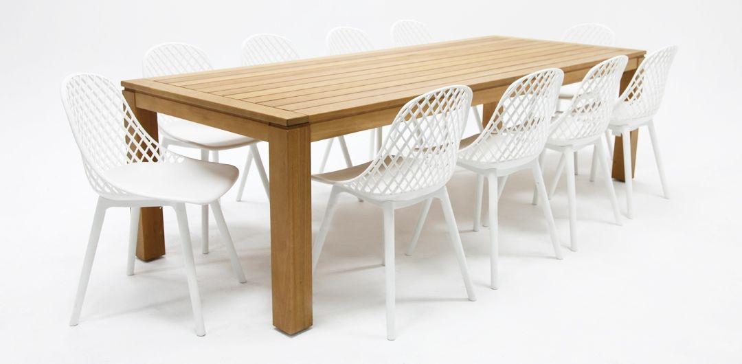 Selina-Persia 260cm 11 piece dining set white