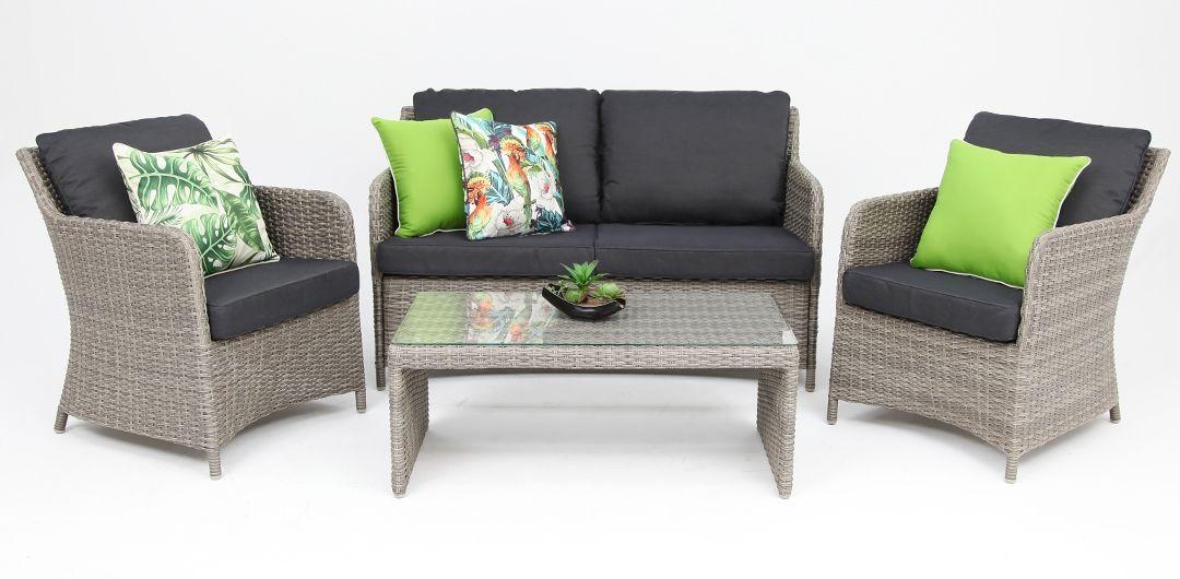 Waterford 4pc sofa set Kobo Grey